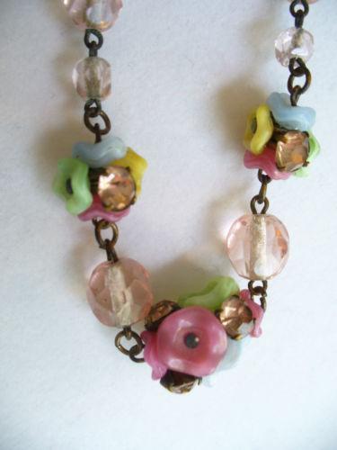 vintage czech glass bead necklace ebay