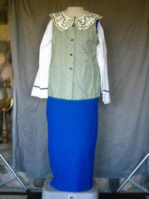 Downton Abbey Maid Costume (Victorian Dress Womens Edwardian Costume Servant Civil War Maid Downton Abbey)