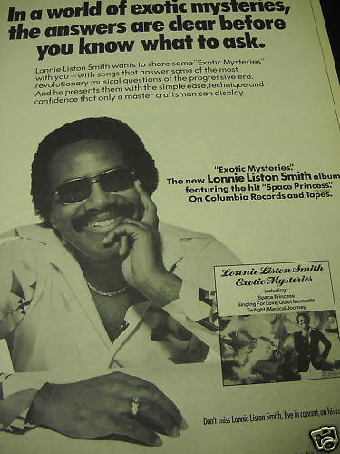 LONNIE LISTON SMITH Exotic Mysteries 1979 PROMO POSTER AD
