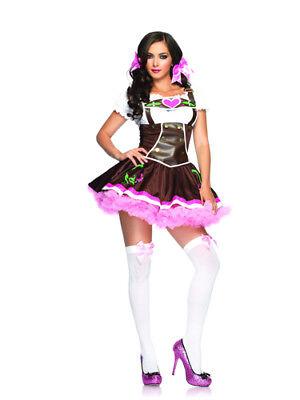 Lil German Girl Womens Gretchen Costume size - Lil Girl Kostüm