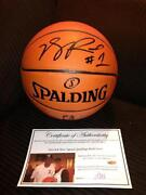Derrick Rose Signed Basketball