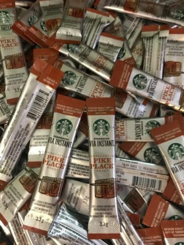 Starbucks VIA Instant Pike Place Coffee Med Roast-100 Loose Packets BB 12/20