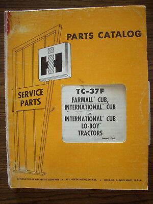Ih Farmall Mccormick International Cub Cub Lo-boy Parts Manual
