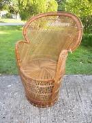 Peacock Wicker Chair