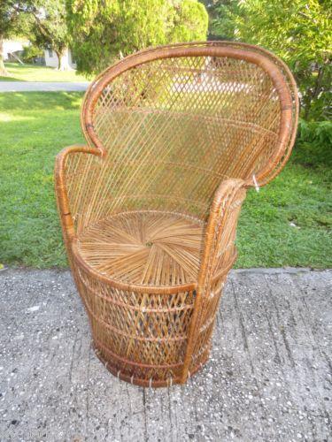 Peacock Wicker Chair Ebay