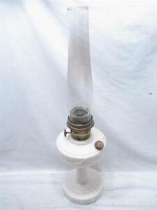 VINTAGE ORIGINAL LINCOLN DRAKE LAMP  /CHIMNEY EX CON