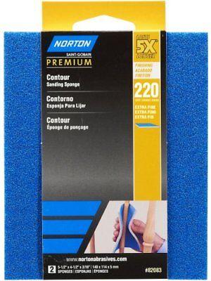 Contour Sanding Pads - Norton 82083 5X 220 Grit Contour Sanding Pads