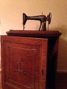 Sewing machine cabinet ebay antique sewing machine in cabinet sciox Choice Image
