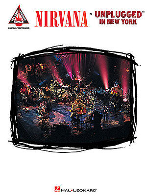 Nirvana UNPLUGGED In New York Guitar Music Book TAB NEW