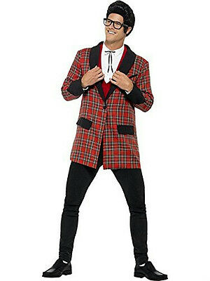 Smiffy's Men's 50's Teddy Boy Plaid Costume Size Large - Boys 50s Costume