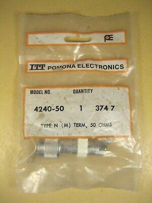 Pomona 4240-50 Type N Male Termination 50 Ohm