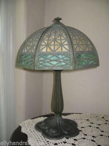 Bradley Hubbard Slag Lamp Ebay