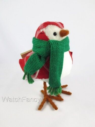 2018 Featherly Friends Toby Fabric Christmas Bird Target Wondershop Figurine