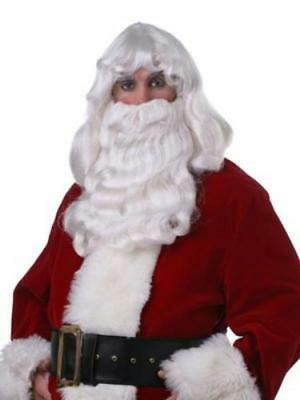 Professional Quality Deluxe Santa Claus White Wig and Beard Christmas](White Wig And Beard)
