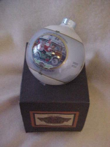 Pewter Harley Davidson  Ornament