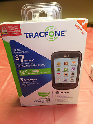 prepaid NEW cell phone LG306G Touchscreen (TRACFONE+ Safelink)