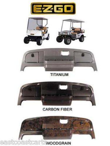 EZGO TXT Golf Cart Dash Cover Carbon, Wood, Titanium