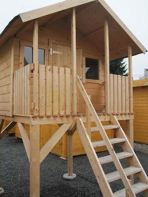 Kinderhaus Tobi XL Gartenhaus Stelzenhaus Holzhaus Kinder Gerätehaus Spielhaus