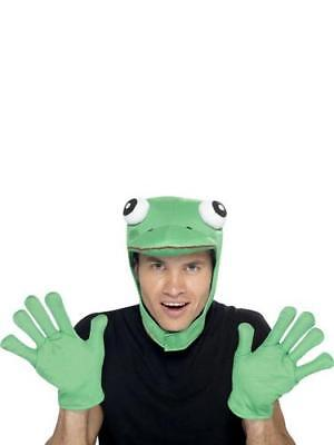 Green Frog Fancy Dress Kit Fairytale Animal Prince Mens Ladies Toad Costume Kit (Frog Prince Costume)