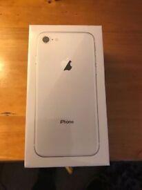 I Phone 8 Plus Silver unlocked 256GB Sealed Box