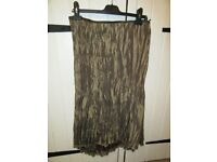 PER UNA SKIRT ANTIQUE GOLD/BROWN WITH LACE STEAMPUNK/LAGENLOOK SIZE 14/16