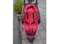 Quinny Zapp in Deep Pink/red with carry storage bag
