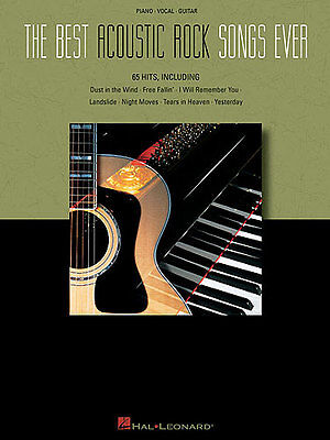 The Best Acoustic Rock Songs Ever Learn to Play Piano Guitar PVG Music (Best Acoustic Guitar To Learn To Play)