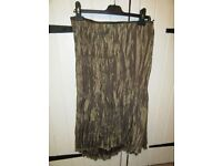 LADIES PER UNA SKIRT ANTIQUE GOLD/BROWN WITH LACE STEAMPUNK/LAGENLOOK SIZE 14/16