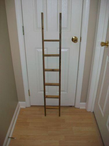 Antique Wood Ladder Ebay