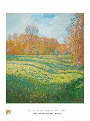 Meadow At Giverny by Claude Monet 32x24 Museum Art Print Landscape