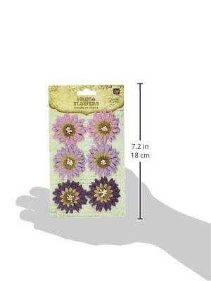 Prima 537708 Petite Mums Flower Embellishments, Violate