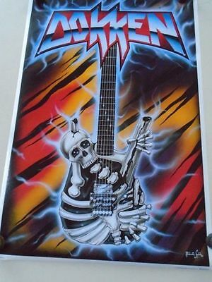 DOKKEN POSTER BIGFOOT 1988 GEORGE LYNCH VINTAGE IMPORT CANADA