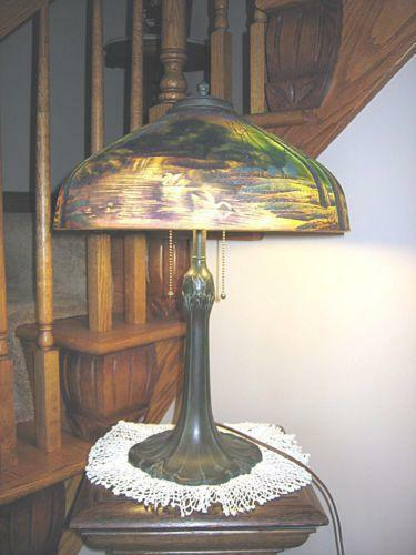Reverse Painted Lamp Ebay