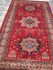 Awesome Shirvan Kuba Veg Dyed Kazak Hand Knotted Area Rug Wool Carpet (4 x 2.6)'