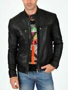 Genuine Leather Jacket Men