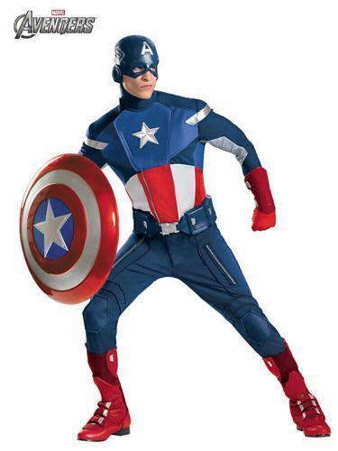 c6efe0618b82 Mens Captain America Costume | eBay