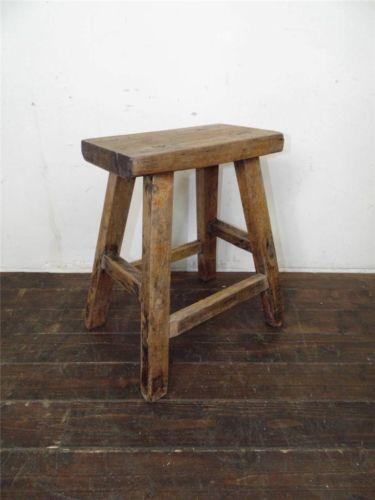 Wooden Milking Stool Ebay