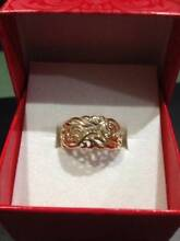 RING 375 YELLOW   GOLD HALLMARKED,FILIGREE SIZE 0 BEAUTIFUL Matraville Eastern Suburbs Preview