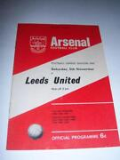 Leeds United Football Programmes