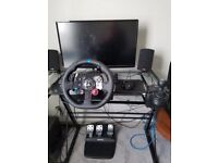 G29 Steering wheel, pedals and manual gear shifter. Amazing condition, rarely used. Ps4.