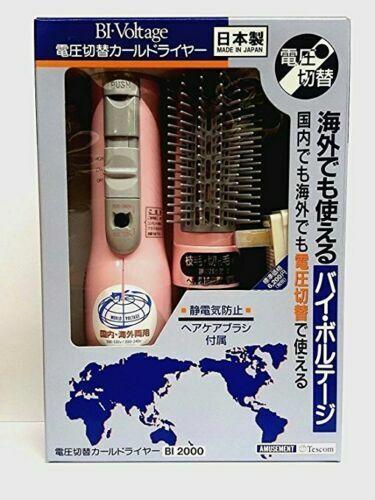 Tescom BI2000 Hair Styler Hot Air Brush Curl Dryer, Dual Vol