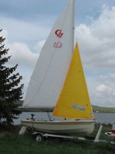 CL 14 Mast, 2 Sails, and Rigging