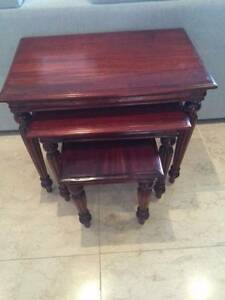 Mahogany 3 piece Side Tables Putney Ryde Area Preview