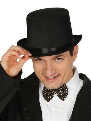 Hut Zylinder schwarz Guirca Zylinderhut top hat Satin Herrenhut elegant Satin Elegante Top Hat