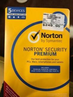Norton Security Premium 5 devices 2 Year PC Mac Android, BRAND NE