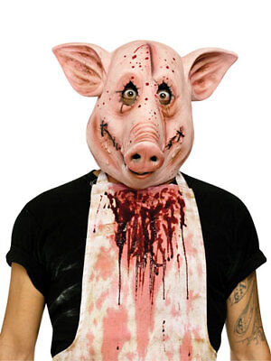 Psycho Pig Scary Animal Halloween Costume Mask](Scary Halloween Animations)