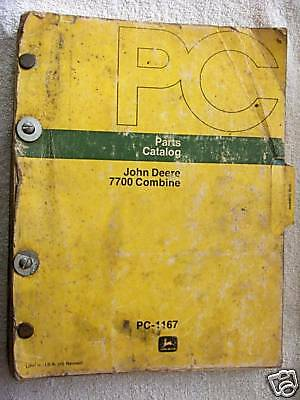 John Deere Dealers 7700 Combine Parts Catalog