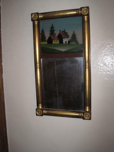 Antique Reverse Painted Mirror Ebay