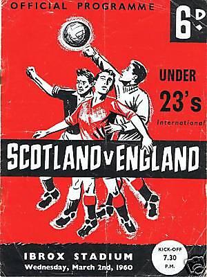 programme, 02.03.1960 U23 Scotland v England FREEUKPOST