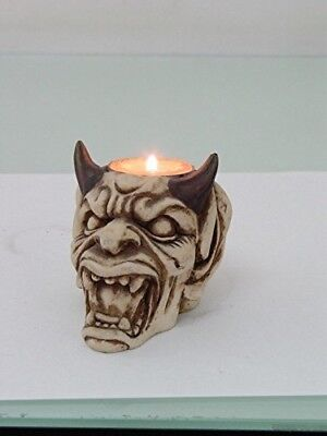 Devil With Horns (PTC Pacific Giftware Devil with Horns Hand Painted Resin Candle Holder,)